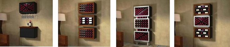 These contemporary wine racks are available in different styles and you can purchase them in different groupings depending on your design preferences. To learn more about these wine racks, click here - http://www.winecellarspec.com/contemporary-wine-racks-wine-storage-furniture-weve-got-em/#. Wine Cellar Specialists  4421 Cedar Elm Circle Richardson, TX 75082  Toll Free: 866-646-7089  Texas Office: 972-454-0480