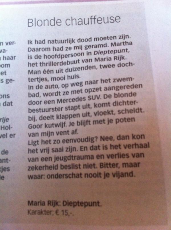 In de Volkskrant.
