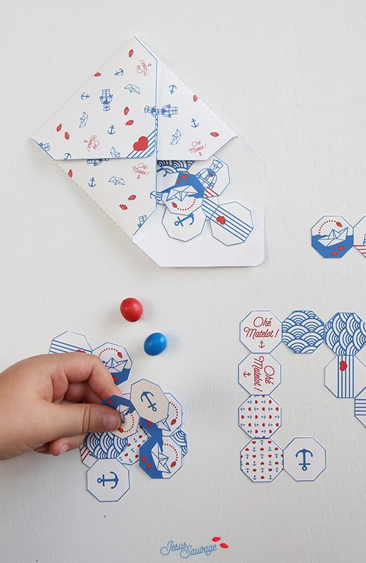 Free Printable Navy Inspired Dominos