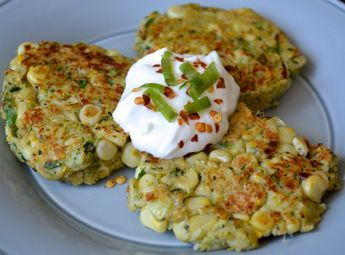 Zero Cholesterol, Low Calorie Recipe of Zucchini Corn Fritters