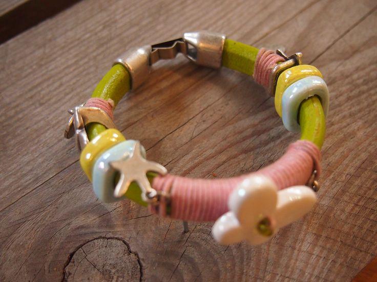 #armband #zomer #sieraden #workshop #leer #kleur