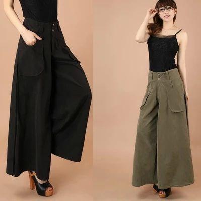 1pcs falda pantalones falda pantalon de 2015, nuevo diseño de la marca pantalones bombachos S - 8XL mayor tamaño las mujeres delgadas pantalones de algodón
