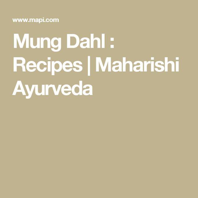 Mung Dahl : Recipes   Maharishi Ayurveda