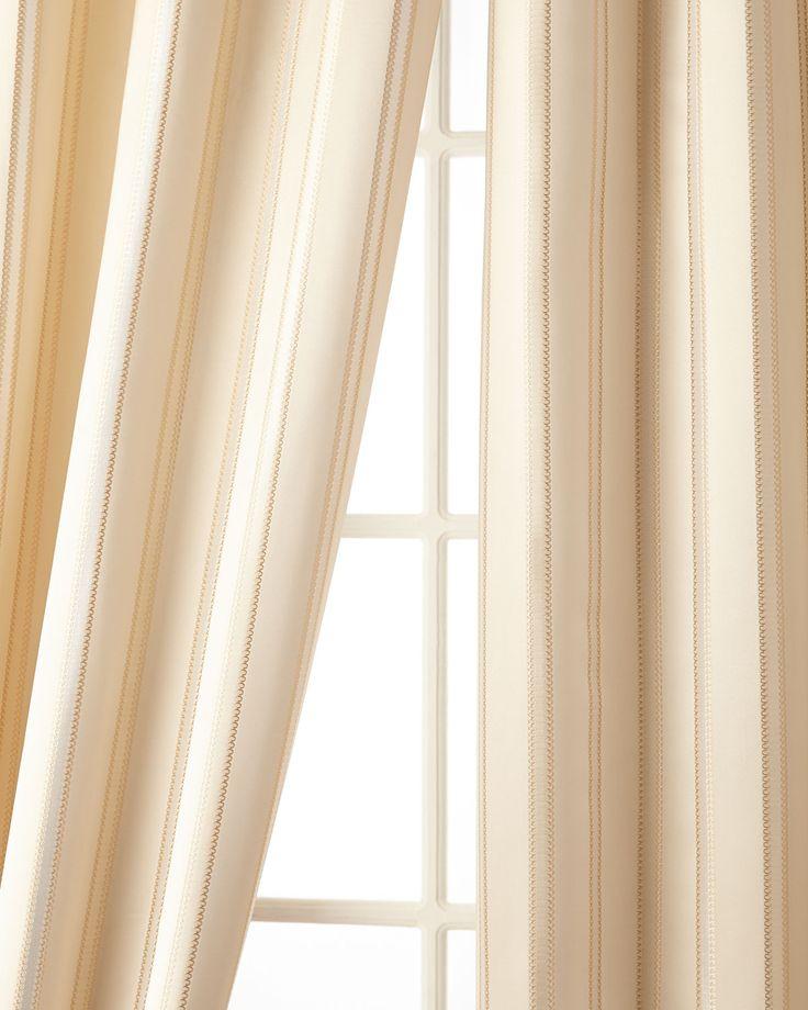 52W X 96L Charlotte Striped Curtain