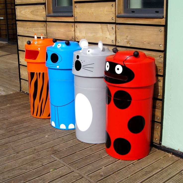 The WGP Animal Face bins are ideal for schools, the cute animal faces encourage children to recycle!