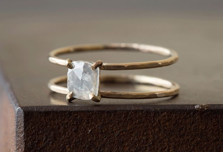 Natural Rose-Cut Diamond Cage Ring -- Alexis Russell