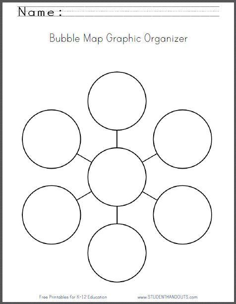 simple bubble diagram for writing 1999 toyota tacoma wiring map graphic organizer worksheet - free to print   worksheets pinterest ...