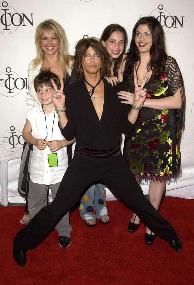 Steven Tyler: Steven Tyler and his son Taj, wife Teresa, and daughters Chelsea and Mia arrive at 'MTV Icon Honors Aerosmith' on April 14, 2002. (Photo by SGranitz/WireImage)
