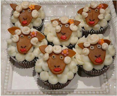 Adorable cup cakes mouton... ...