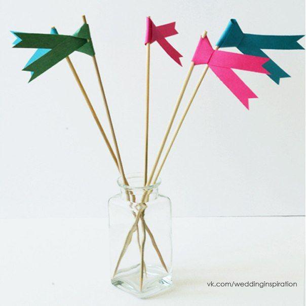 Бумажные флажки своими руками для украшения Вашего сладкого стола!...