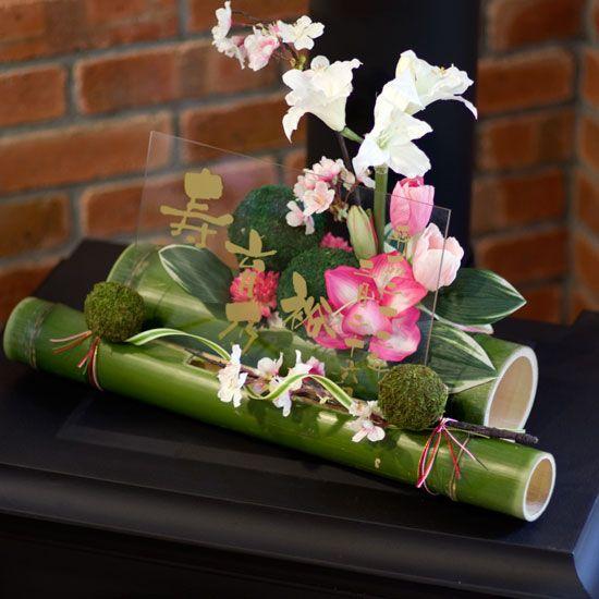 和風ウェルカムボードー竹ー春(結婚式におすすめ!桜を竹にあしらった和ボード) - 結婚式のウェルカムボードや和ギフト-花ネット