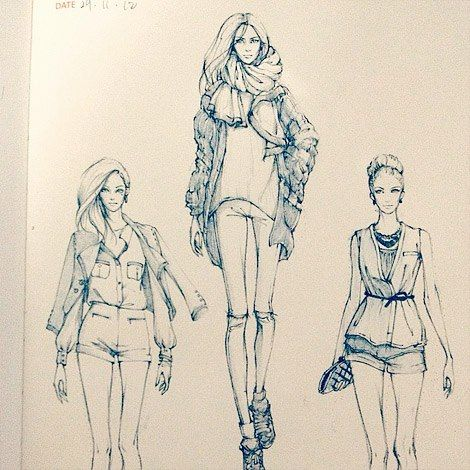 Fashionary sketches by Alex Tang