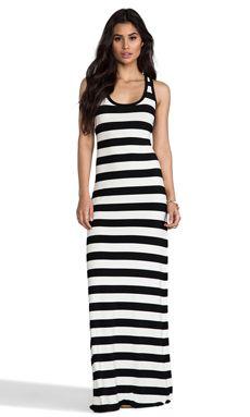 Racer Maxi Gown In Black Stripe WAS $106.36 NOW $75.20 http://richgurl.com/linkout/1727053