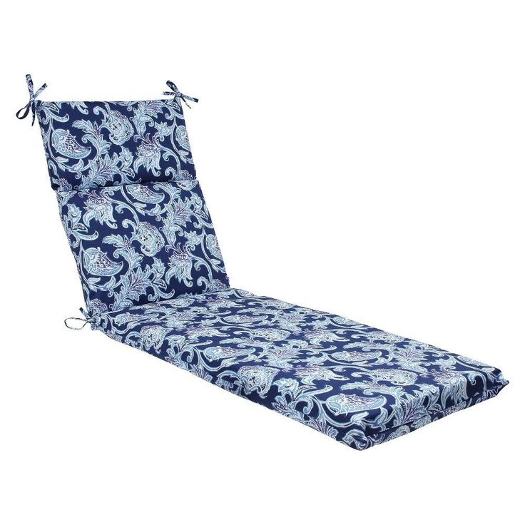 Pillow Perfect Lahaye Outdoor Chaise Lounge Cushion - Blue