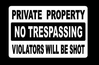 Decorative Private Property Signs Metalsignprivatepropertynotrespassingviolatorswillbeshot