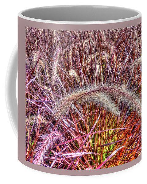 Purple Fountain Grass Coffee Mug by Leslie Montgomery.  Small (11 oz.)