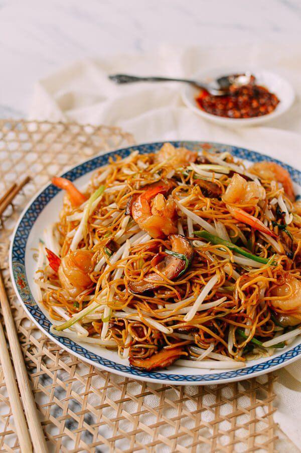 Hong Kong Style Shrimp Chow Mein Noodles Recipe Shrimp Chow