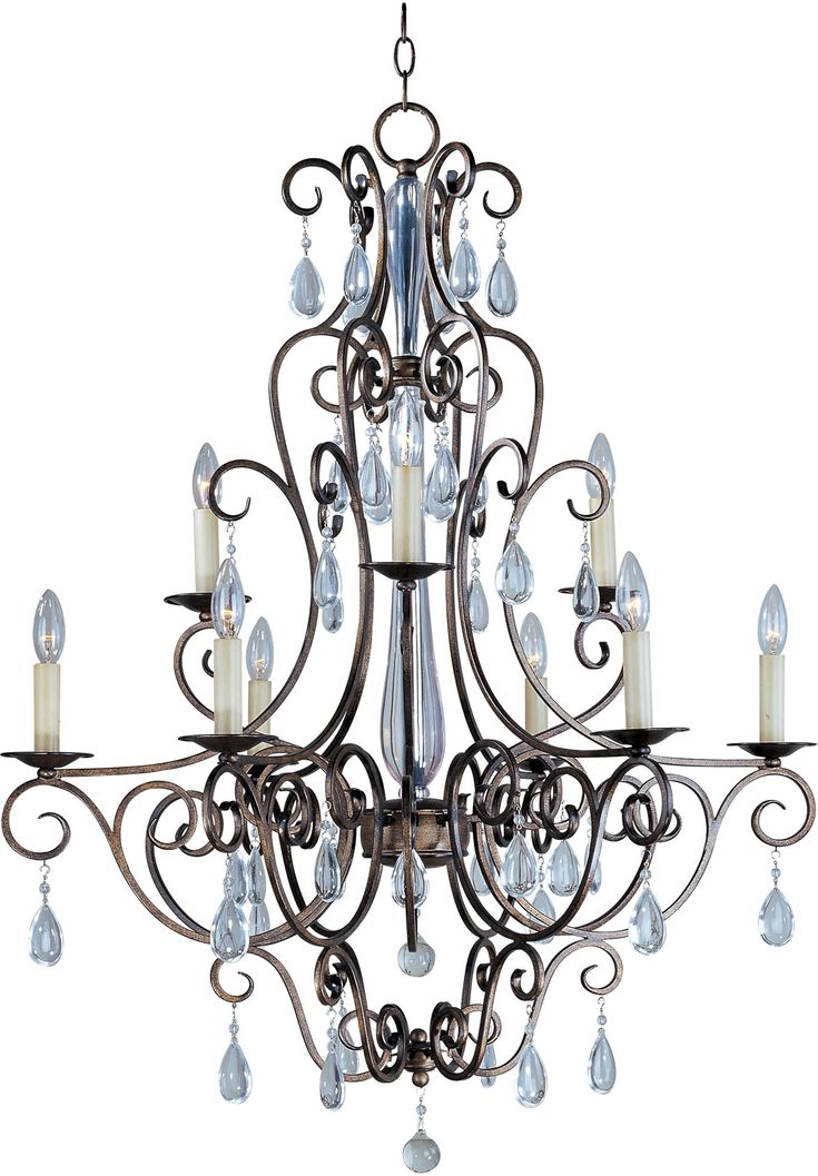 South Shore Decorating: Maxim Lighting 12026AD Hampton Multi Tier 9-Light Traditional Chandelier MX-12026-AD