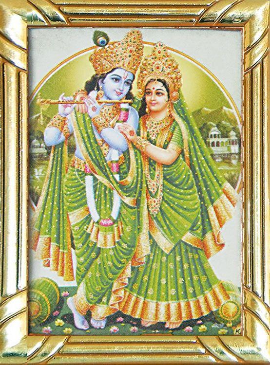 Radha Krishna (Metal Frame)