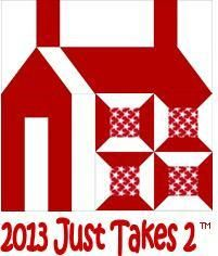 """Just Takes 2 Block of the Month Retired bi-monthly patterns from the Just Takes 2 quilt by Dear Jane and Sentimental Stitches can be purchased here.There are 100 blocks in the quilt. The printed pattern includes nearly 200 pages of patterns and instructions. The patchwork section finishes at 72"""" x 90"""".  Optional patterns for redwork embroidery patterns are also available below. Redwork embroidery pattern includes 69 different designs and 13 alphabets for you to select from when m..."""