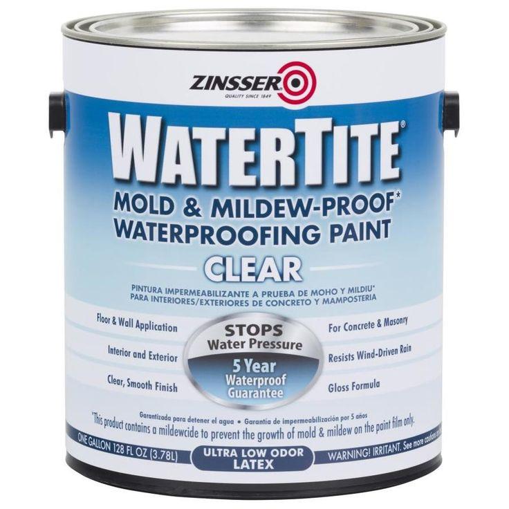 Zinsser WaterTite Clear Gloss Mildew Resistant Mold