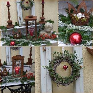 Lovely Weihnachtsdeko auf der Terrasse Wohnen und Garten Foto