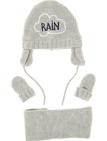 TAGLIA 49 - Completino lavorato a maglia berretto + sciarpa snood + muffole Neonato a 10,00€ - Scopri le nostre collezioni moda a piccoli prezzi nel reparto Cuffie,sciarpe,guanti
