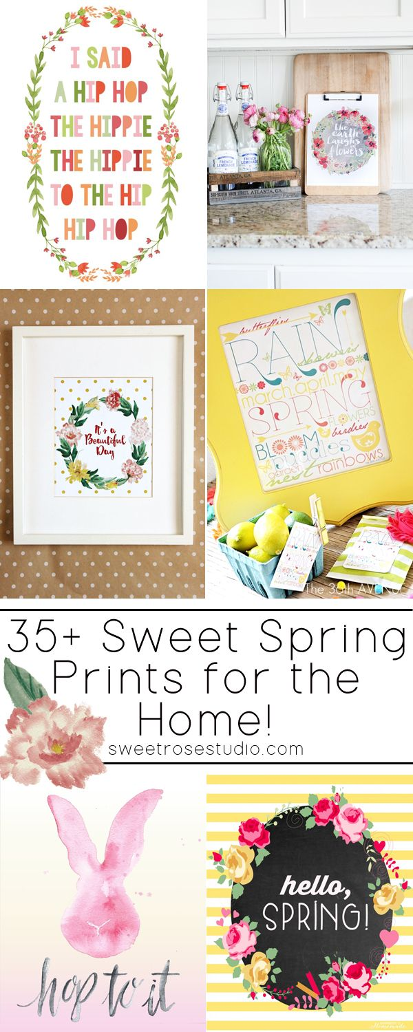 35+ Sweet Spring Prints for the Home