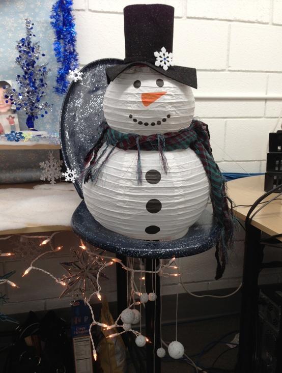#10 - Snowman toilet seat wreath
