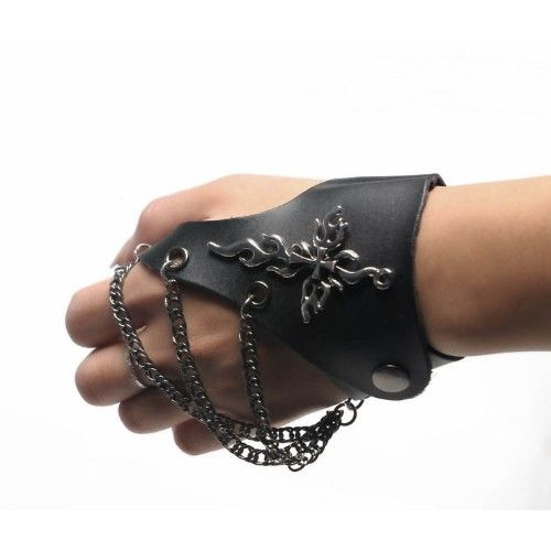 Black Chain Michael Jackson Gothic Punk Rock Fashion Gloves Wholesale SKU-71102061