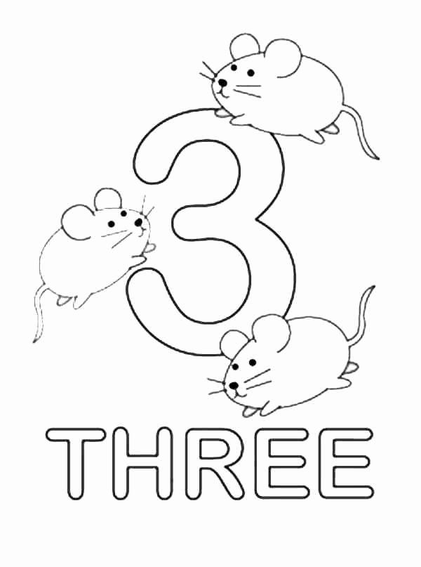 Number 3 Coloring Sheets New Superb Coloring Number 3 Coloring Pages For Toddlers In 2020 Numbers Preschool Kids Learning Numbers Printable Numbers
