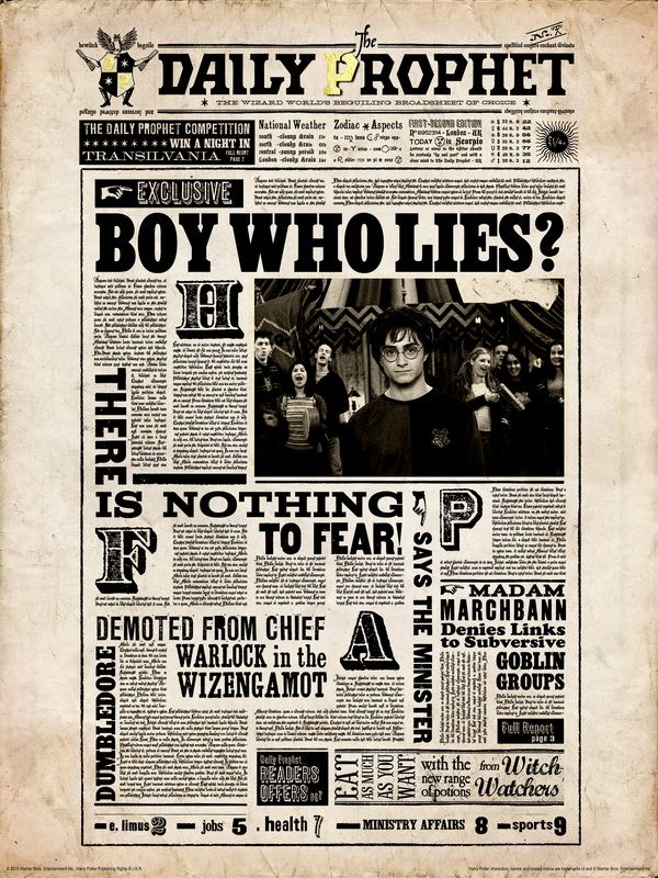 "The Daily Prophet Harry Potter Collector/'s Poster Print 11/"" x 17/"" B2G1F"