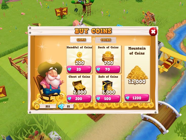 Farm Story 2 | Shop Soft Currency| UI, HUD, User Interface, Game Art, GUI, iOS, Apps, Games, Grahic Desgin, Farm Game, World Building | www.girlvsgui.com