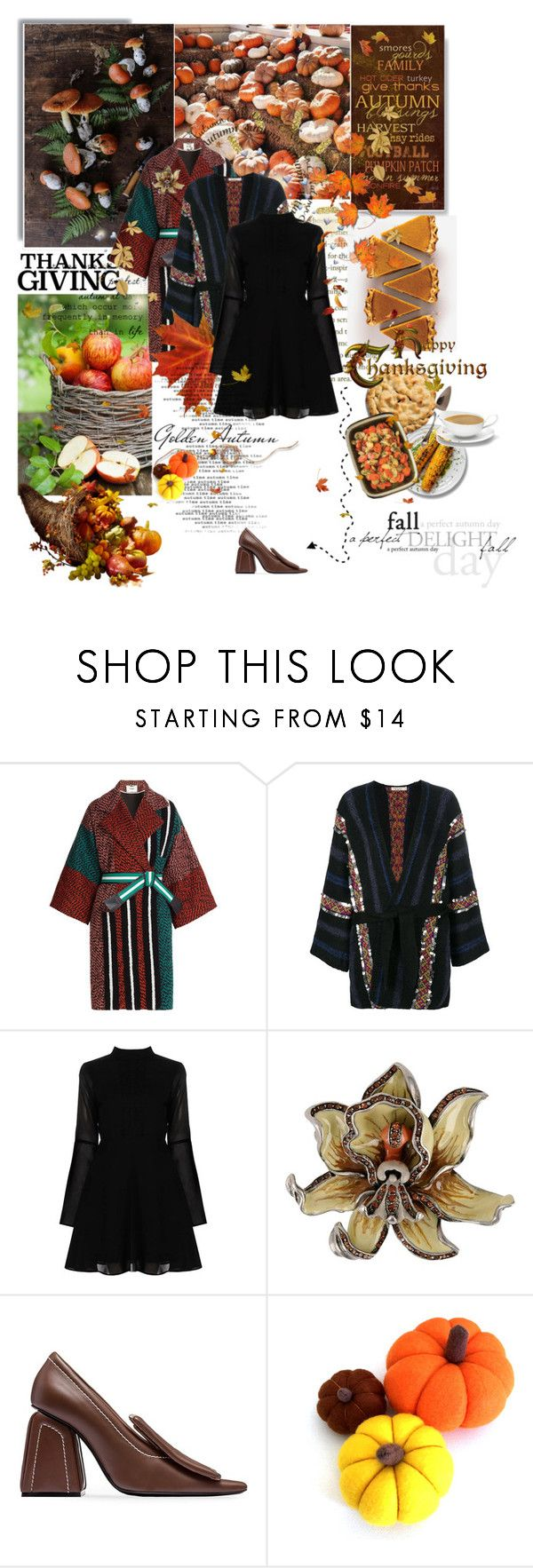 """cinnamon"" by la-rosy ❤ liked on Polyvore featuring Fendi, Mes Demoiselles..., Boohoo, Etro, Marni, Fall, food, autumn, thanksgiving and harvest"
