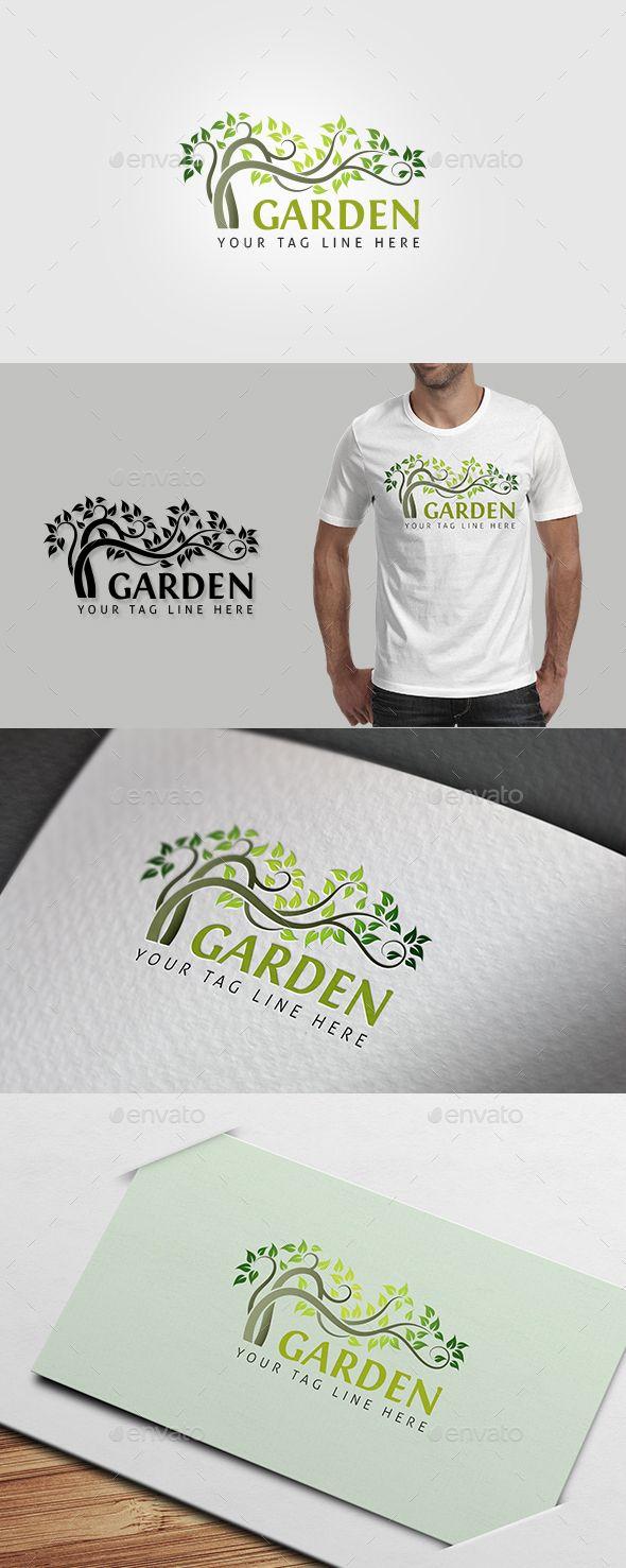 Garden Logo Template Vector EPS, AI Illustrator. Download here: https://graphicriver.net/item/garden-logo/13079569?ref=ksioks