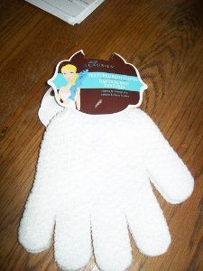 Textured Bath Gloves by daily luxeries. $9.95