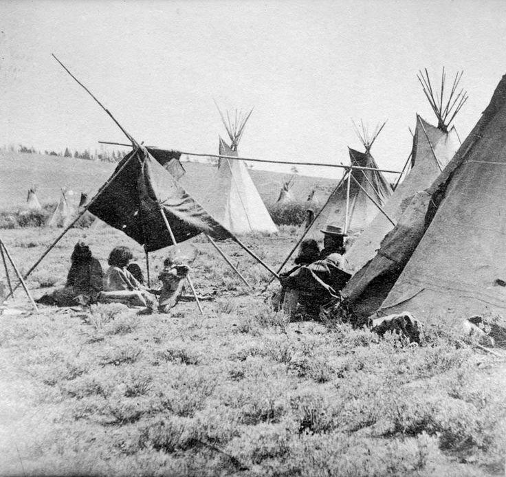 Shoshone camp, 1856