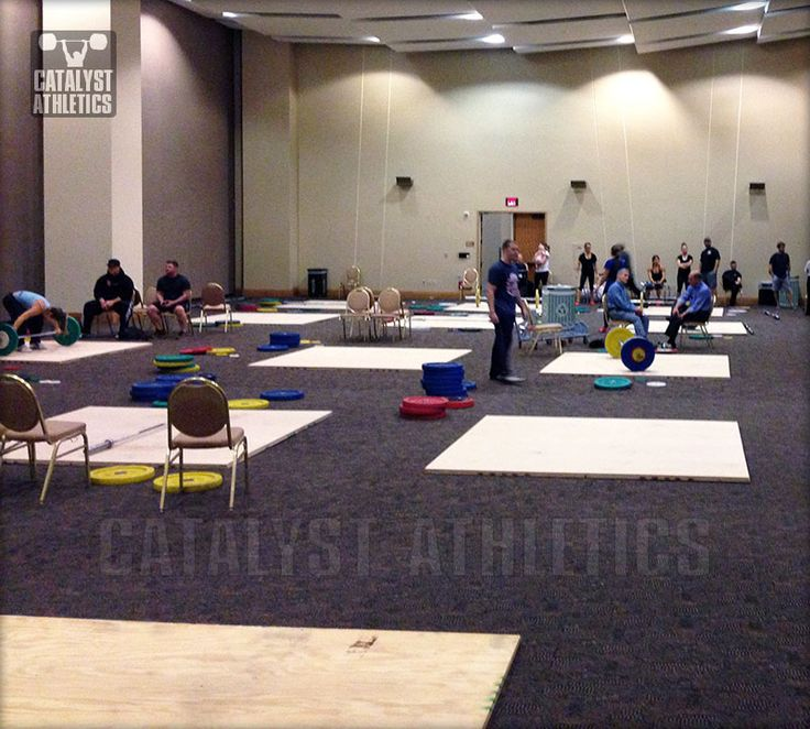 Etiquette for the warm-up room at Olympic weightlifting competition