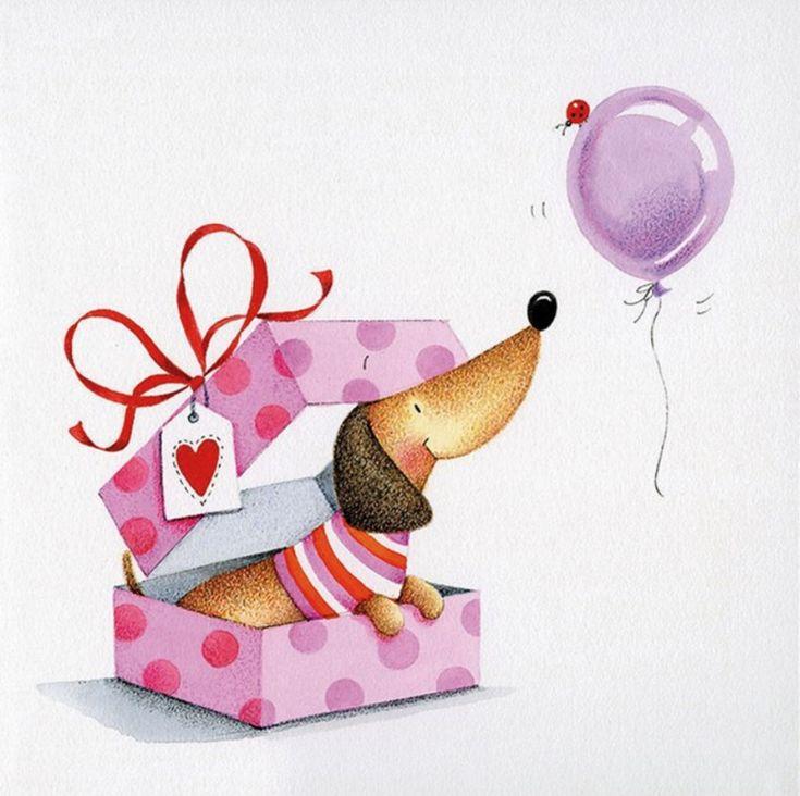 Жениха, с днем рождения открытка с таксой