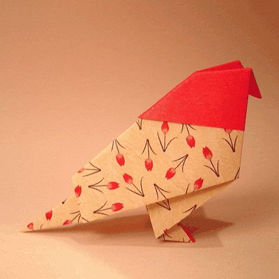 146 best origami kirigami images on pinterest kirigami traditional origami bird sciox Choice Image
