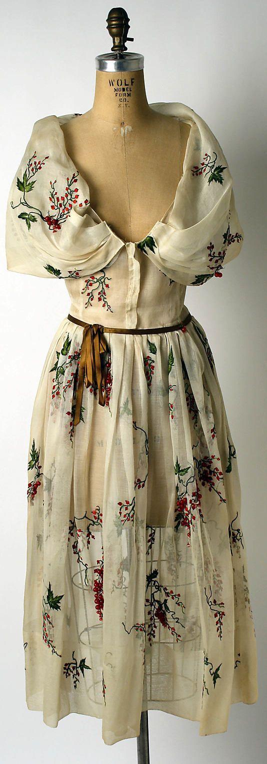 doir 1953 ~ cotton, silk, glass