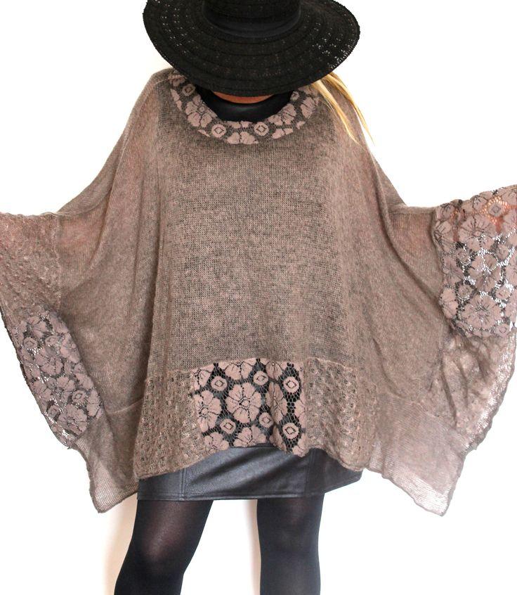 pull forme poncho grande taille femme boheme boho bohemian pinterest. Black Bedroom Furniture Sets. Home Design Ideas