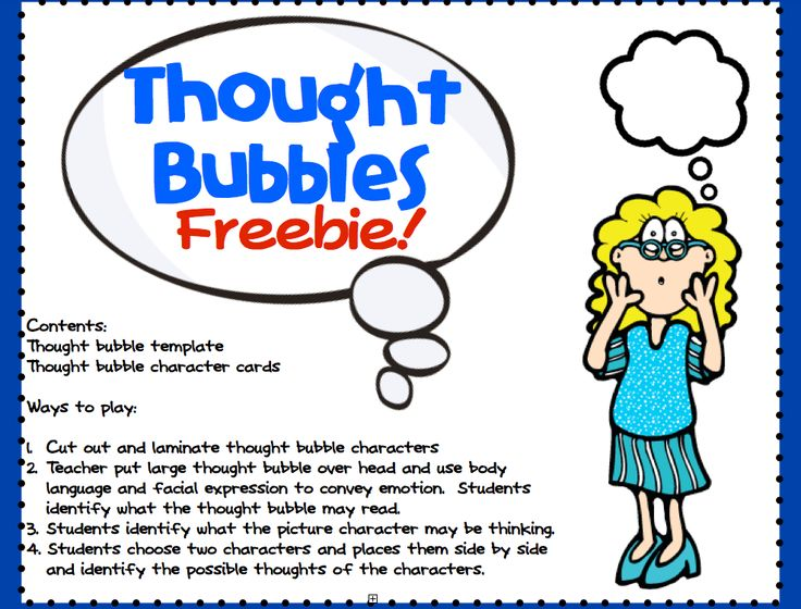 Thought bubbles freebies!