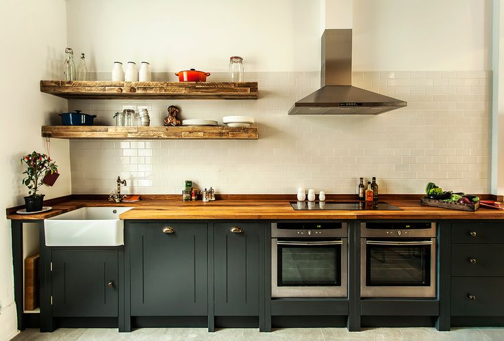 Contemporary, Quirky & Stylish Black Kitchen. Solid Timber, quality, hand painted in-frame cupboards supplied off the peg by British Standard Cupboards. Designed by Compass & Rose. All styling and Photography by Alexis Hamilton.