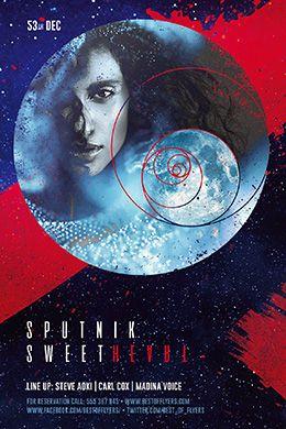 Sputnik Sweetheart PSD Flyer Template