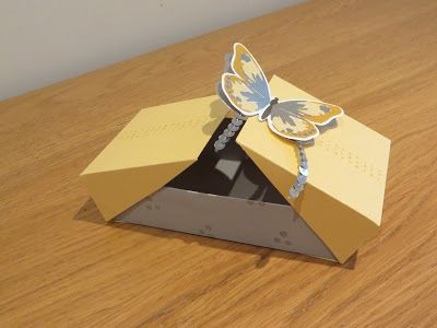 Double Flip Gift Box with Watercolor Wings, Video Tutorial using Watercolor Wings by Stampin' Up