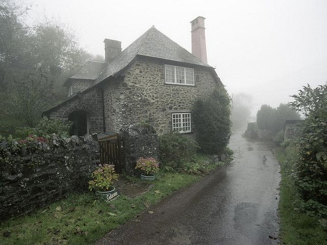 English cottage in the mist-perfection
