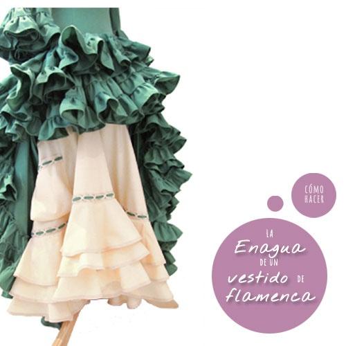 """Cómo hacer la enagua de un vestido de flamenca. Parte IV de la seria """"Cómo hacer un vestido de flamenca"""""""
