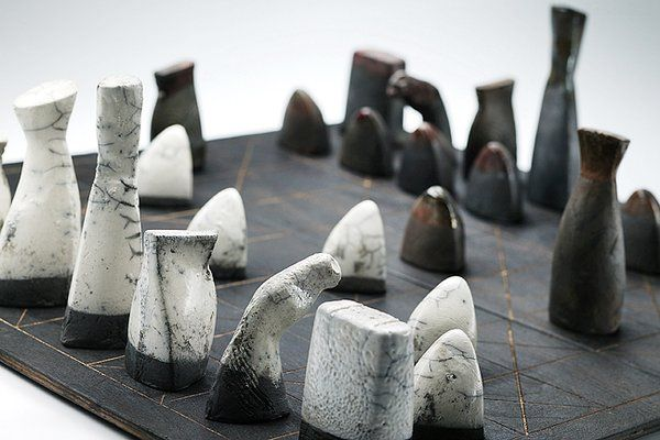 Image result for handmade ceramic chess set