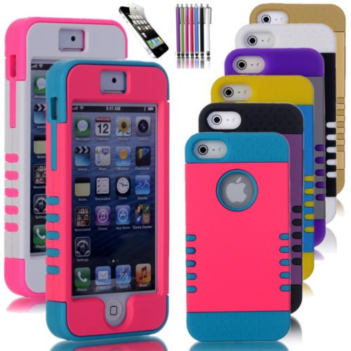 #ebay Colorful Heavy Duty Hybrid Rugged Hard Case Cover For iPhone 5 5C C 5S s - $4.99 (save 50%) #unbrandedgeneric #covers #cases